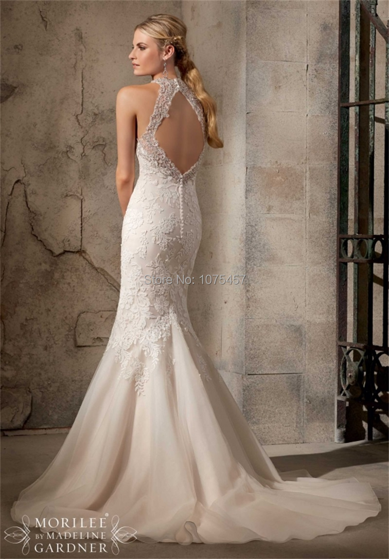 Turmec halter top low back wedding dress for Free wedding dresses low income