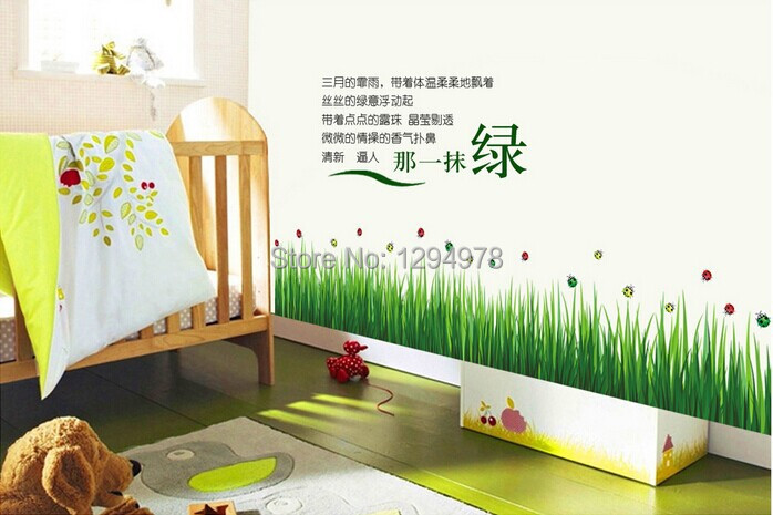free shipping high quality ladybug green grass diy
