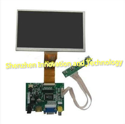 raspberry Pi cubieboard 7 inch digital LCD screen with touchscreen HDMI + VGA +2 AV 800480 +free shipping<br><br>Aliexpress