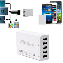 Buy Universal Charging Station 5-Port 50W 8A High Speed Desktop Wall USB Charger Apple iPhone 6s 6s iPad Samsung S7 S6 D for $25.30 in AliExpress store