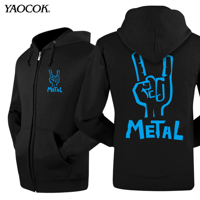 Metal Rock Band New Winter Mens Hoodies And Sweatshirts Printed Hooded Jacket Casual Thick Men Zipper Skateboard Sports CoatОдежда и ак�е��уары<br><br><br>Aliexpress