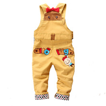 High Quality 2016 Spring autum baby cotton rompers Animal Boy's Girl's Jumpsuit Denim Overalls infant costumes Baby's Clothing(China (Mainland))