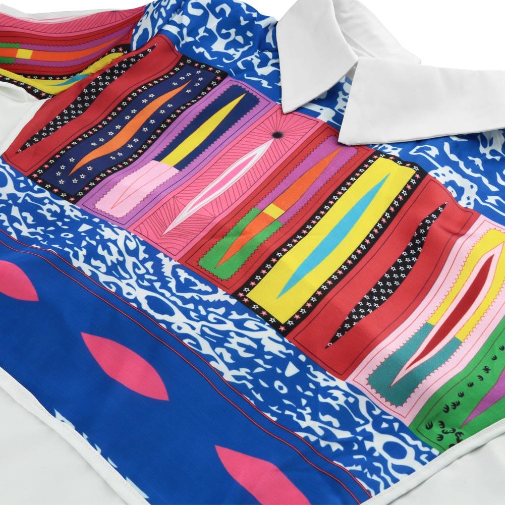 2015 мода женщины элегантный урожай с длинным рукавом печать блузки дамы офис пр рубашки свободного покроя блузка топы Большой размер