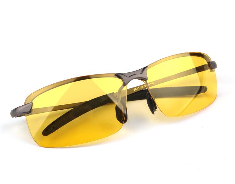 2015 Brand New Fashion Black &Gray Frame Driver Glasses, Night Vision Polarizer Sunglasses Y3043 With Glasses Box For Women&Men(China (Mainland))