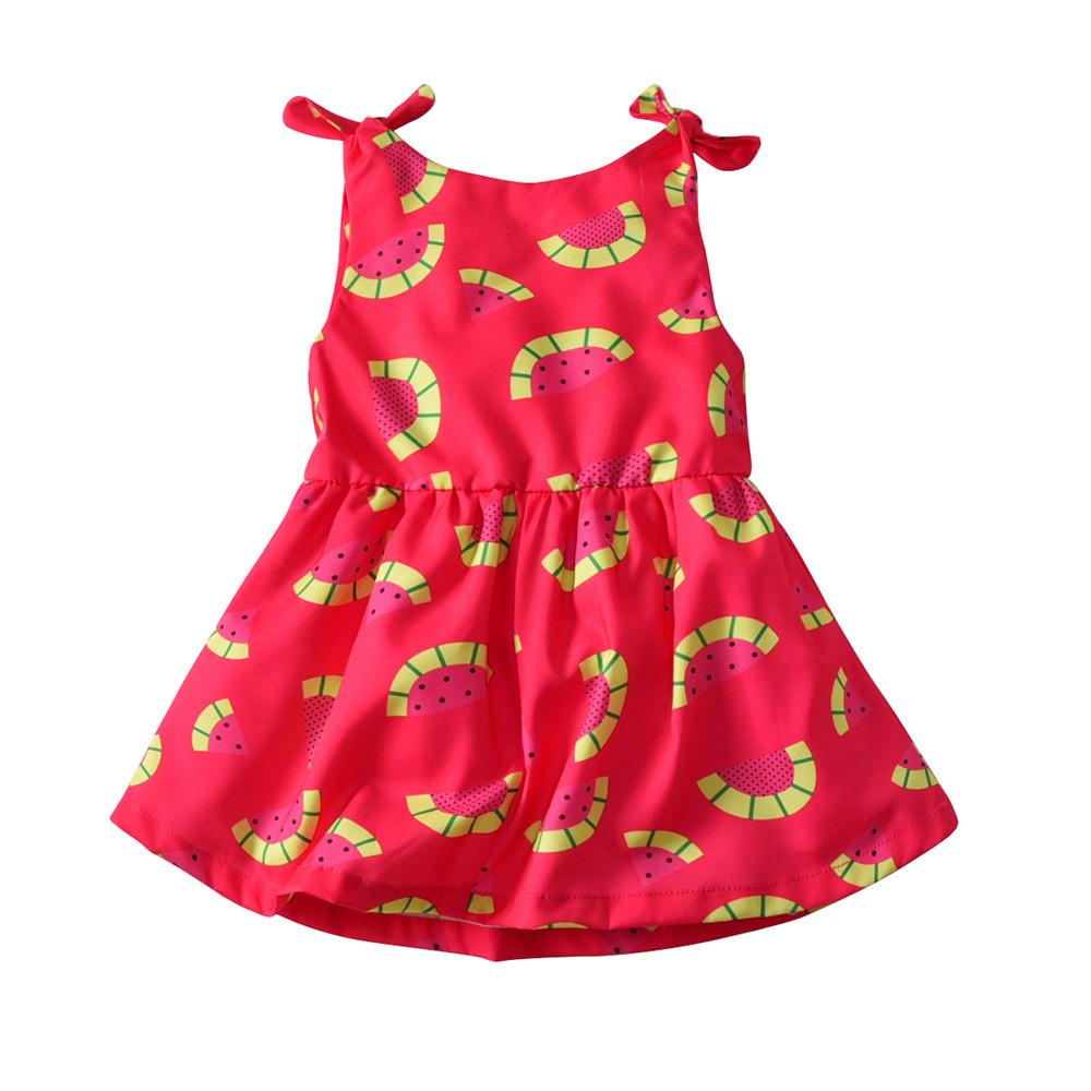 Großhandel Kleinkind Kind Baby Mädchen Kleid Wassermelonendruck ...