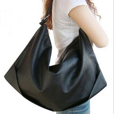 European and American fashion shoulder bag, large capacity dumpling shape women's bag,PU material handbags(China (Mainland))