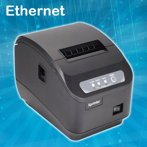 thermal receipt printer 80mm pos printer ethernet auto cutter ESC/POS compatible Windows Linux OPOS print speed 200mm/s(China (Mainland))