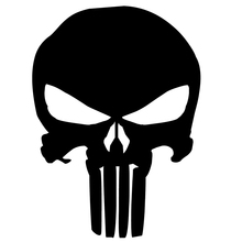 Punisher Skull Vinyl Decal For Car Window Sticker Marvel Comics(China (Mainland))
