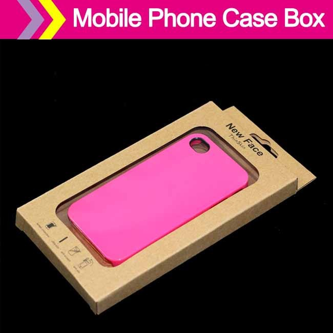 Customizable mobile phone case packaging boxess