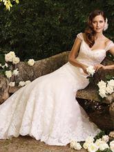 Vintage 2016 New Wedding dresses Sweetheart Sleeveless Lace Court Train Button Spaghetti Straps Wedding dress Plus size customed(China (Mainland))