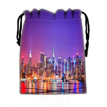 Unique Design Custom New York #7 drawstring bags for mobile phone tablet PC packaging Gift Bags18X22cm SQ00715-@H0303(China (Mainland))