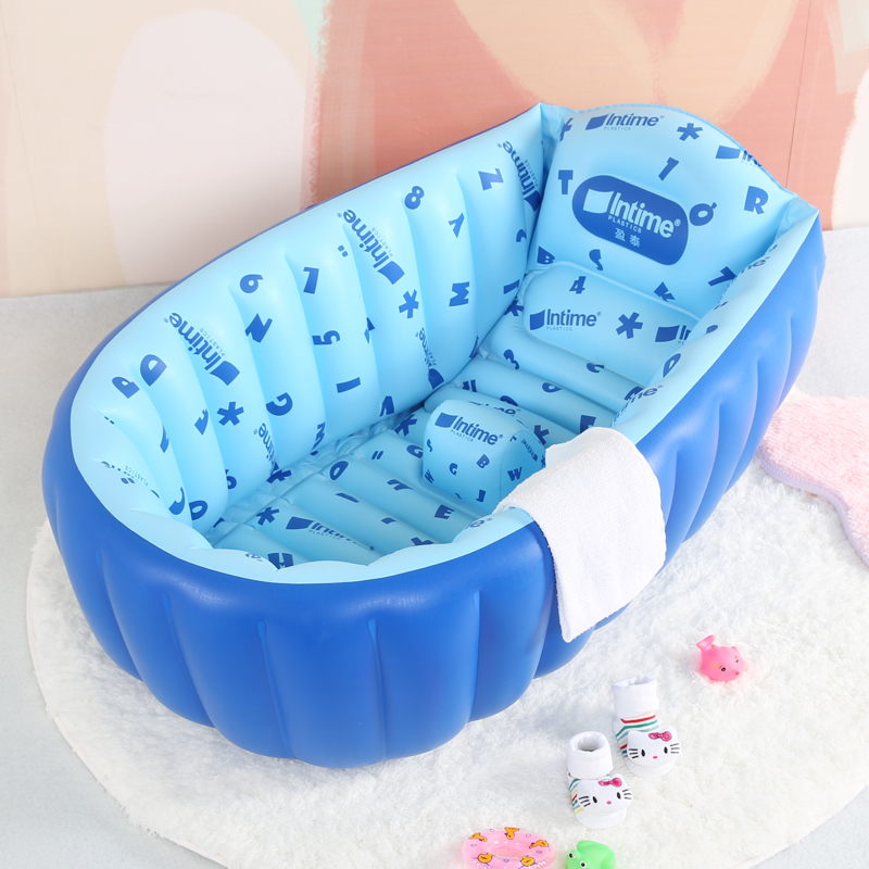 baby inflatable bathtub baby bathtub large child bath bucket newborn thickening folding bathtub. Black Bedroom Furniture Sets. Home Design Ideas