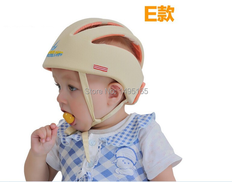2015 Hot Sale Anti-collision Protective Hats Baby Toddler Caps Baby Safety Helmet Size Adjustable 3color in stock(China (Mainland))
