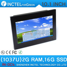 All in one touchscreen pc with HDMI 10.1 inch industrial 4-wire resistive screen 2G RAM16G SSD support calls boot Wake on LAN