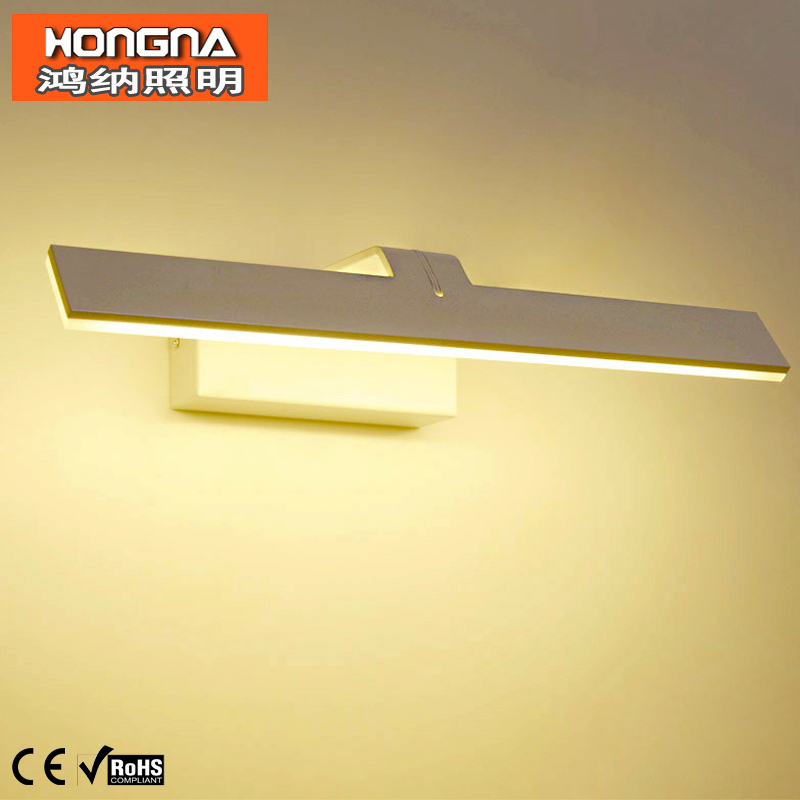 Brief Style 38CM 8W LED Mirror Lights Waterproof Anti-fog Wall Lamp Mirror Cabinet Bathroom Wall Light AC110V/220V Free Shipping(China (Mainland))