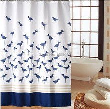 Polyester terylene blue birds shower curtains bathroom curtain  - thickening waterproof coating curtains.(China (Mainland))