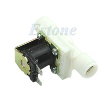 "J34 Free Shipping AC220V Electric Solenoid Valve Magnetic N/C Water Air Inlet Flow Switch N/C 1/2""(China (Mainland))"