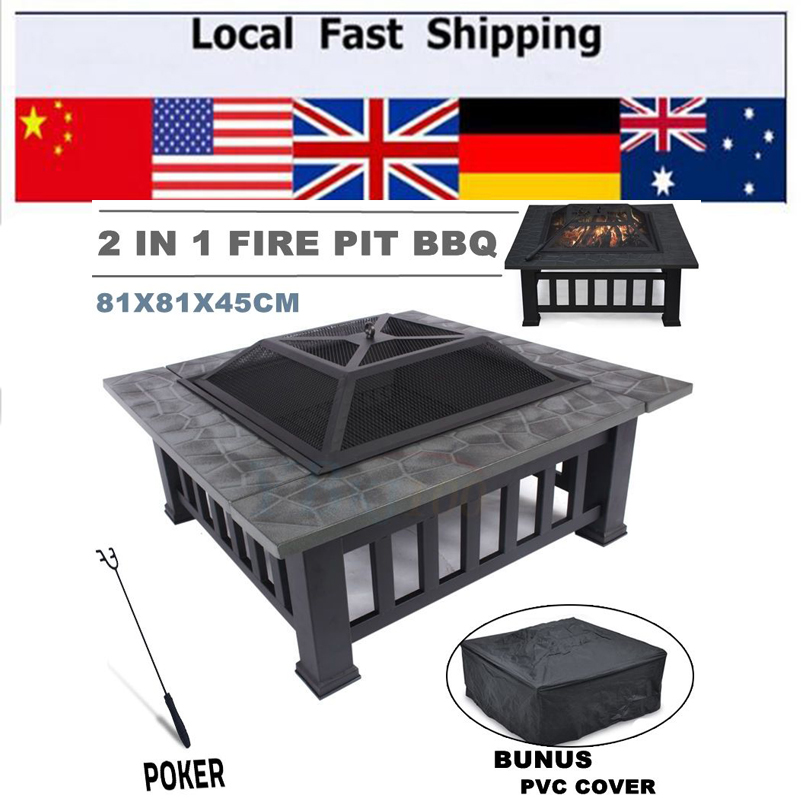 Hot Fire Pit BBQ Table Grill Garden Patio Home Camping Heater Fireplace Brazier(China (Mainland))
