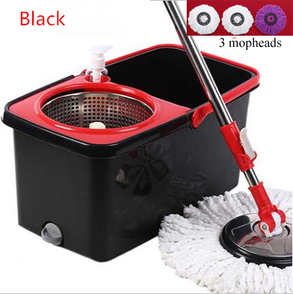 Easy Magic Floor Mop Bucket Microfiber Spin Mop 360 Rotating 3 microfiber mophead cleaning soap dispenser Design(China (Mainland))