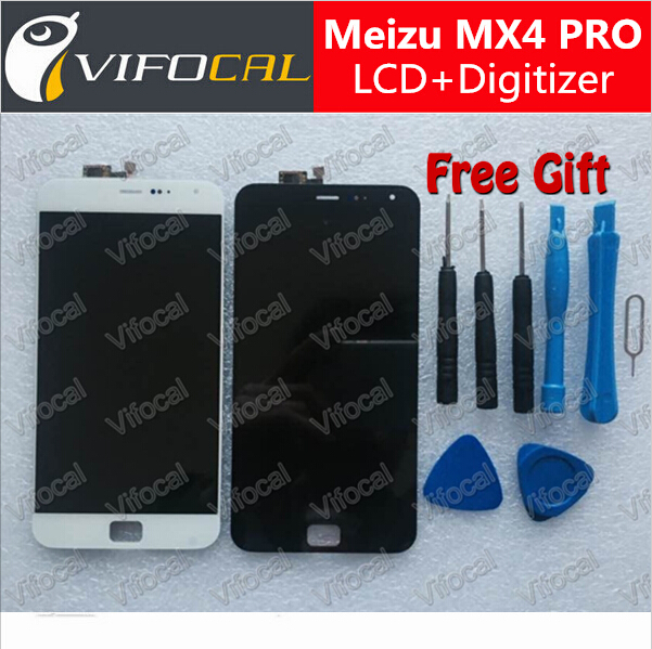 Meizu MX4 Pro lcd display + touch screen 100% Original MTK6595 2560x1536 2K screen digitizer assembly replacement accessories