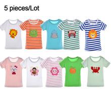 100% Cotton Boys Girls T shirt Tops Children Tees Baby Girl boy Short sleeve T-shirts Cartoon Cute Blouse Roupas menino menina(China (Mainland))