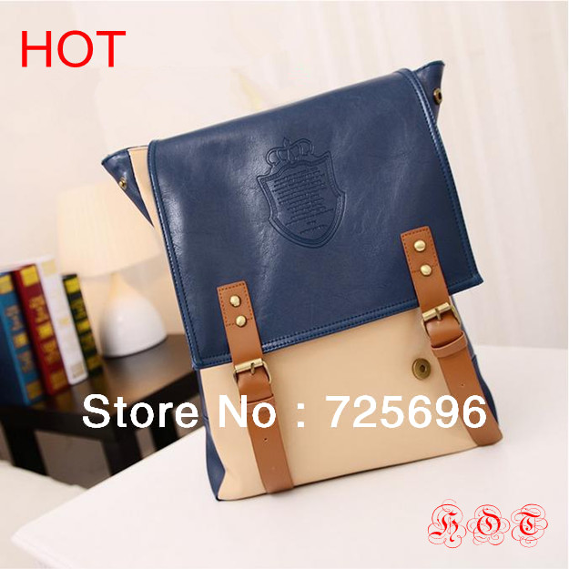 2013 New Fashion vintage book bag For Women Travel Backpacks Hot Girls School Bags Casual Style leather backpack Free Shipping(China (Mainland))