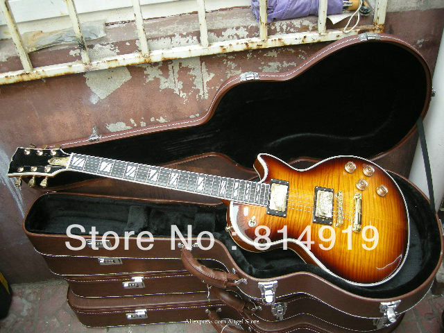 Supreme Vintage Sunburst Electric Guitar ebony fingerboard Musical Instruments(China (Mainland))