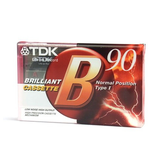 1 pc TDK B-90 Blank Brilliant Audio Cassette for music and voice recording low noise normal position type-I Free shipping(China (Mainland))