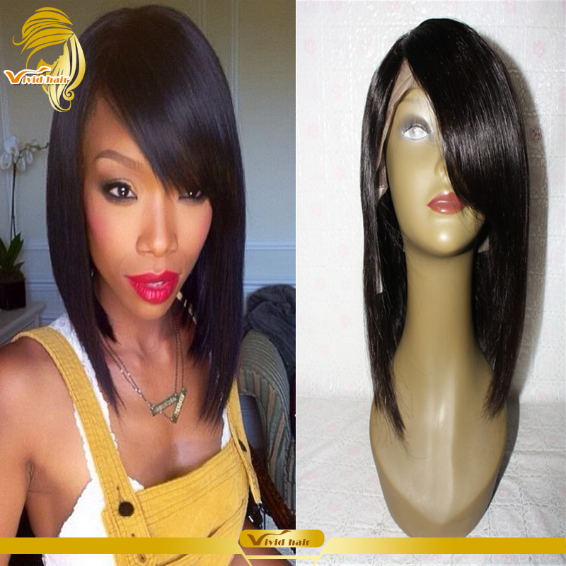 150%Density 7A Brazilian Human Hair Bob Wig With Bangs Natural Color Lace Front Bob Wig Full Lace Human Hair Wig For Black Women<br><br>Aliexpress