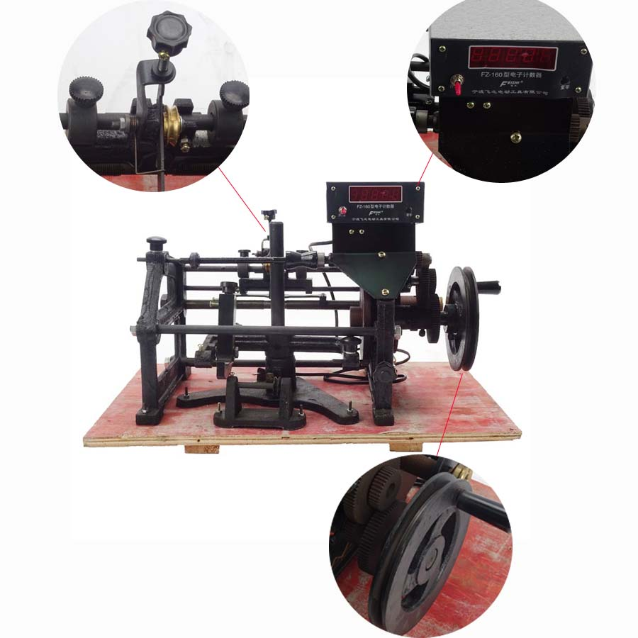 By DHL 1pc New FZ-160 Manual Automatic Hand Electronic Coils Winding Machine 220V Applicable wire diameter 0.06-0.50mm(China (Mainland))
