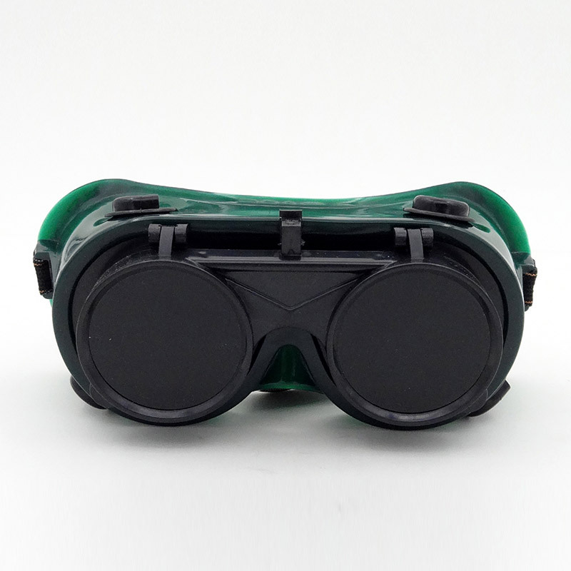 2 PCS High Quality gafas Seguridad Trabajo green Double mirror laser goggles infrared Ultraviolet safety glasses welding(China (Mainland))