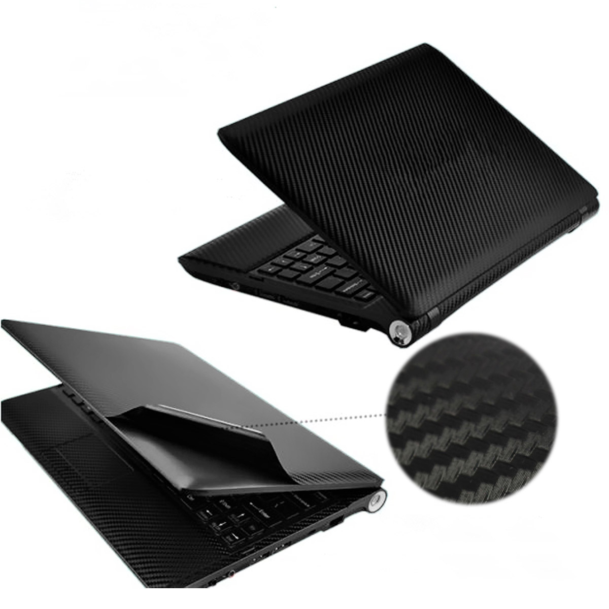 Wholesale universal Carbon Fibre Vinyl Skin Sticker Cover Decal Free Squeegee Print 40*29cm for 17'' Notebook PC Laptop Computer(China (Mainland))