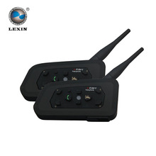 Lexin 2016 Nouveau 2 PCS 1200 M Moto Bluetooth Casque Interphone pour 6 coureurs BT Sans Fil intercomunicador Interphone Casques MP3(China (Mainland))