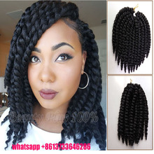 Hot Sale Havana Twist Braid Synthetic Senegalese Hair Crochet Braiding Afro Marley Curly Box Braids Hair Nubi braid twist