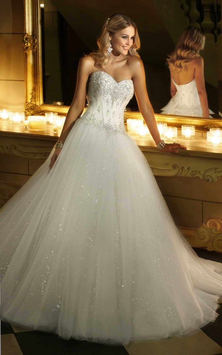 2015hot style romantic ball gown corset beaded lace for Princess corset wedding dresses