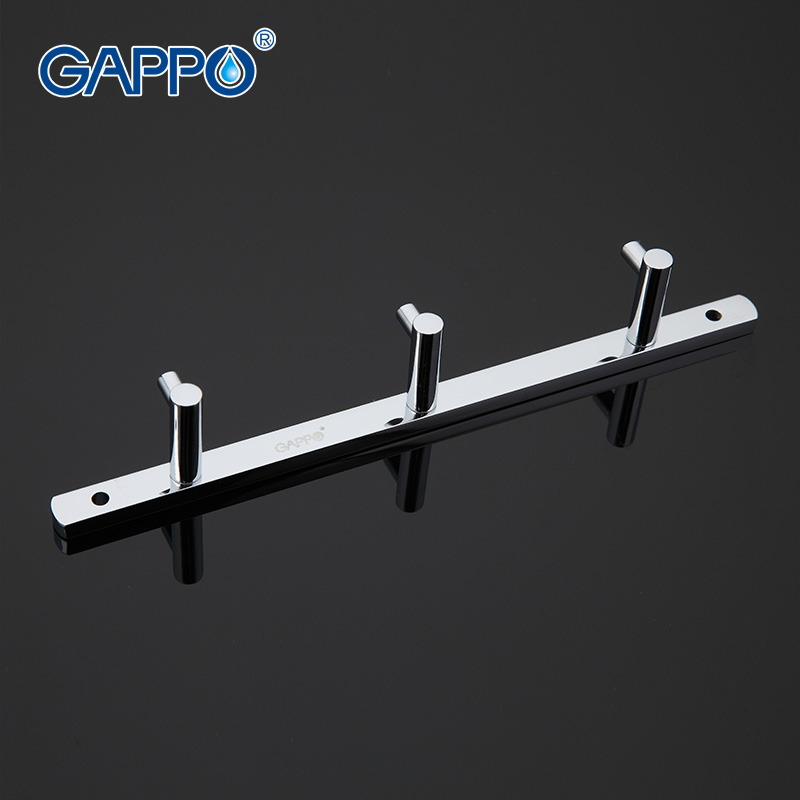 GAPPO 1 set Modern Bathroom accessories 3 Hooks Wall-mount zircalloy Towel Holder hook restroom Tower Hooks G202-3(China (Mainland))