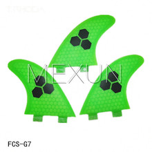 3PCS Green High Quality FCS G7 Surf Fins / Surfboard Fins Fiberglass(China (Mainland))