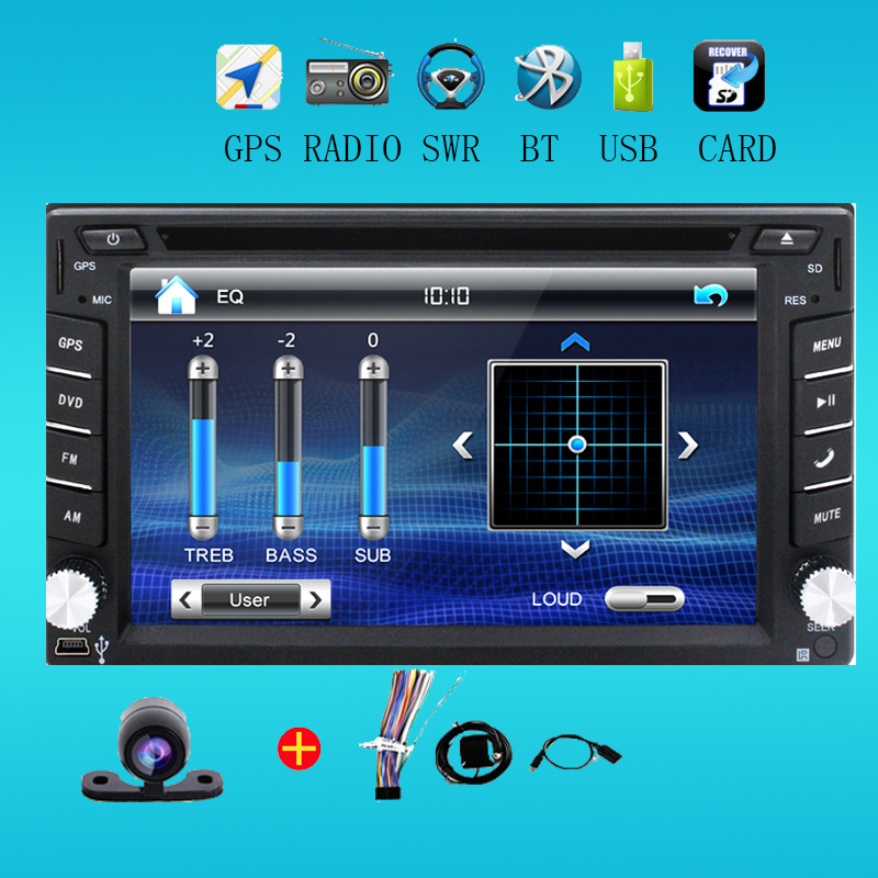 2 din universal Car Radio monitor Auto DVD Player USB GPS In dash Car PC Stereo video steering RDS Head Unit+Free Camera For VW(China (Mainland))