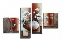 Huge vase flowers art handmade Abstract mordern oil paintings on canvas, wholesale oil paintings oLo PS_041(China (Mainland))