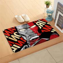 W530L1 personalizado iron man vengadores cómoda pintura de acuarela felpudo decoración del hogar alfombra de la puerta alfombrilla de baño alfombrilla de pie # f1(China)
