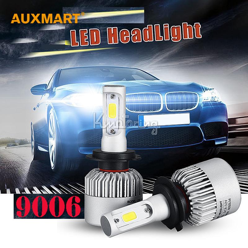 Auxmart 9006 72W COB LED Car Headlight Bulb Pure White 6500K 8000LM Driving Light All In One Single beam Fog Lamps 12v 24v 4x4(China (Mainland))