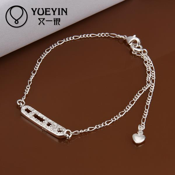 A006 Fashion silver anklets for women beach foot jewelry chaine cheville barefoot sandals tornozeleira lock ankle women(China (Mainland))