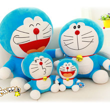 25cm Kawaii Cute Popular Anime Doraemon Stand By Me Soft Cotton Cute Plush Stuffed Toys Doll Children Girl Gift