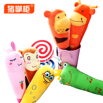 Pig plush cartoon chuibei stick knock back stick massage hammer plush toy bobbin girls birthday wedding decoration