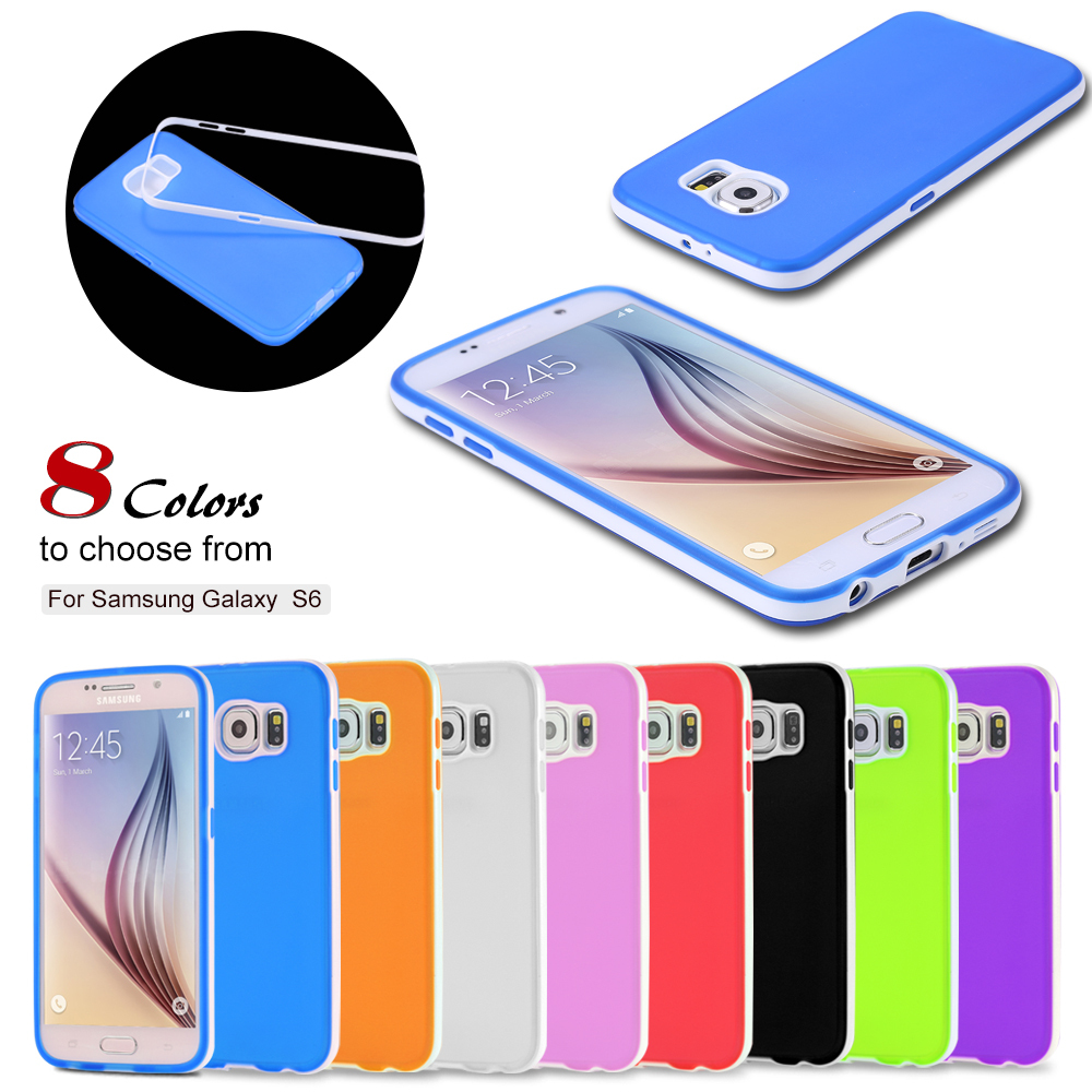 For Galaxy S6 Silicone Case Cute Top Quality TPU Soft Case For Samsung Galaxy S6 G9200 G925F Slim Flexible Phone Back Cover(China (Mainland))