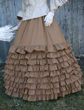 Victorian Skirts Long Ruffled Skirt