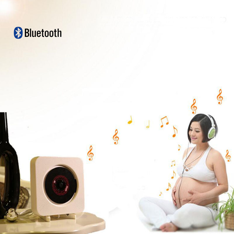 Wall-mounted CD player Bluetooth FM radio CD stereo prenatal fidelity digital amplifier Free Shipping(China (Mainland))