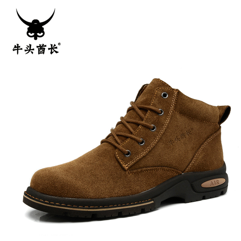 Tba outdoor casual shoes suede cowhide martin boots high boots tooling fashion suede boots male fashion shoes sneaker for man(China (Mainland))