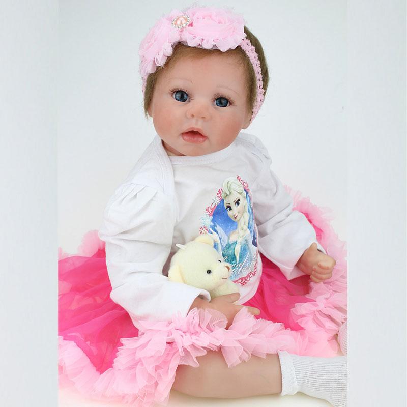 55 cm de Silicona Suave Bebé Reborn Muñeca Bebé Recién Nacido Algodón de LOS PP Cuerpo Realista Muñecas Del Bebé Muñecas Muñecas Del Bebé Educación Temprana Juguetes(China (Mainland))