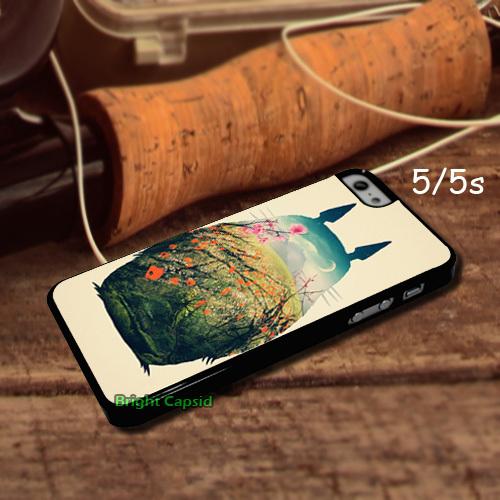 Tonari Totoro Custom Design Phone Cases Cover for iphone 5s 5c 4s/4 and i6 6 plus Cell phones Case(China (Mainland))